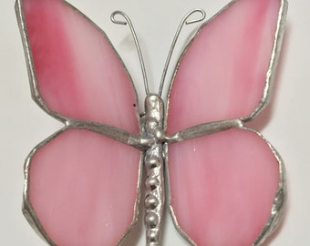 STAINED GLASS  BUTTERFLY  suncatcher   Gorgeous!    Hand Made !