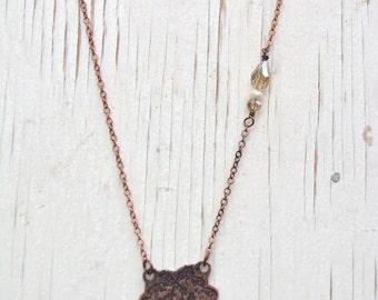 Etched Lace Necklace