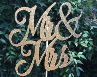 Mr & Mrs Cake Topper,