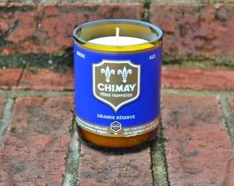 Chimay Grande Reserve Blue beer bottle candle
