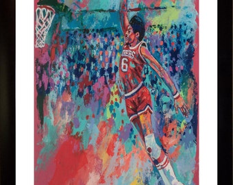 70% SALE Julius Erving Dr J Fine-Art LIMITED Edition Paper Print From an Original Hand-Painted (Not DIGITAL) Artwork By Winford