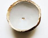 Gold Heart Minimalist // Classic Jewelry Dish