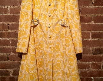 Beautiful daffodil yellow suit jacket and dress by Rona NY, Size 10