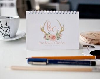 Business logo, Graphic Design, Antlers logo, Boho,  Business Branding, Ready made logo, Watermark, Premade logo, Logo design, Business Logo