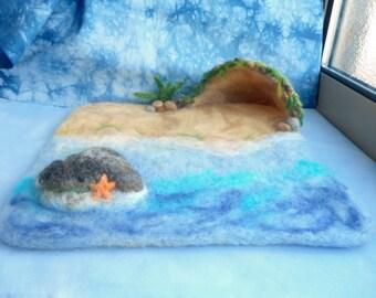 Needle Felt Ocean/Beach Playscape - Waldorf inspired