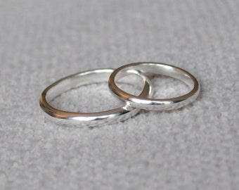 Wedding Ring, Plain Ring, Sterling Silver, Simple Ring, His, Hers