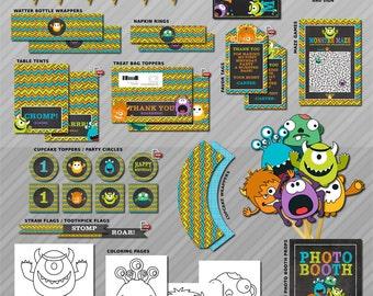 Little Monster Party, Little Monster Decorations, Monster Party Decor, Little Monster Party Games, Little Monster Birthday Party, Printable