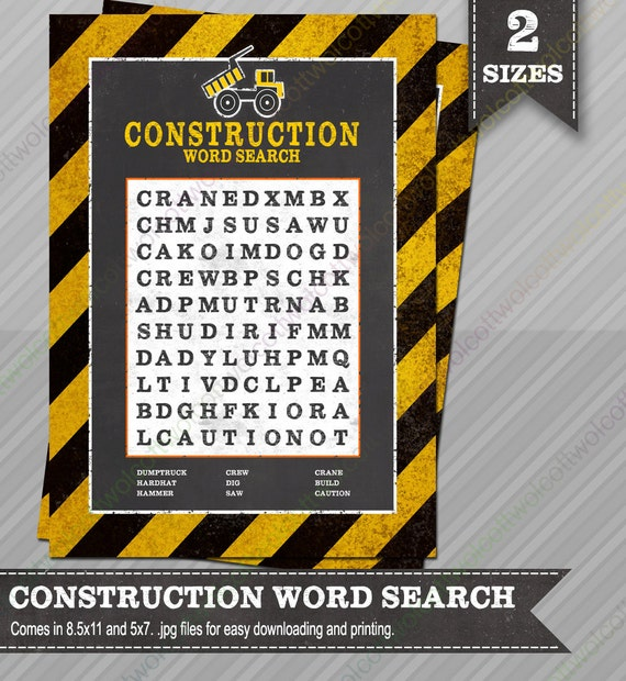 Construction word search construction party construction - Contractor how to find one ...