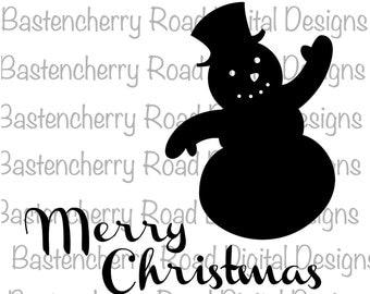 Christmas SVG, Merry Christmas SVG, Snowman svg, Cut File, svg, Cricut, Silhouette, Instant Download, svg Design, Vinyl, svg file, Winter