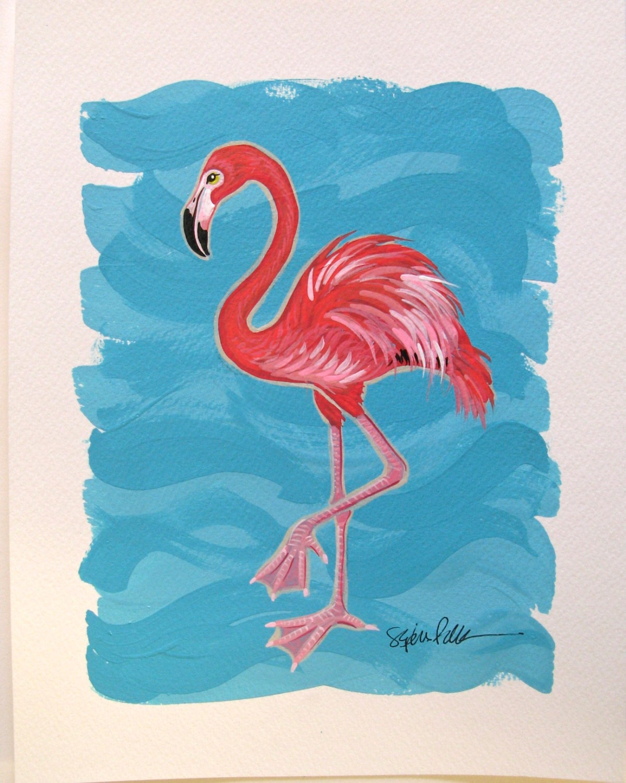 Flamingo Painting Acrylic download