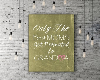 Grandmother Gifts For Grandma Birthday Art, Grandparent Gifts, Nana Gift Card, Grammy Gift For Family Art, Chalkboard Wall Art Grandma Quote