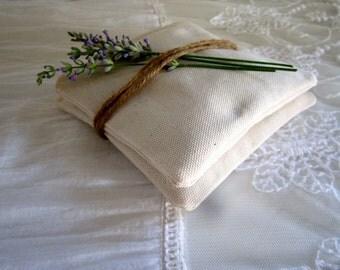 Organic Lavender sachet, Organic lavender bag, Organic lavender pillow, lavender for drawer, Ivory sachet, neutral sachet.