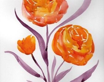 Fausta, Original Floral Painting