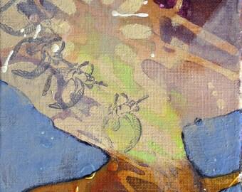 Whimsical art, original art, oil painting, one of a kind art, small painting, contemporary art, modern art, katie hoffman, djinn