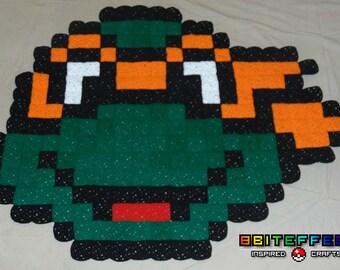READY2 SHIP - 8-Bit TMNT(Teenage Mutant Ninja Turtles)Rug/Wall Hanging/Baby Blanket