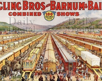 Circus Trains Ringling Brothers Vintage Digital