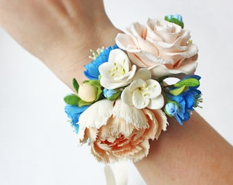 Wedding Corsage Flower, Bridal Bracelet, Flower Corsage, Rose Bracelet, Bridal Accessories, Wedding Jewelry, Bridesmaid Accessory