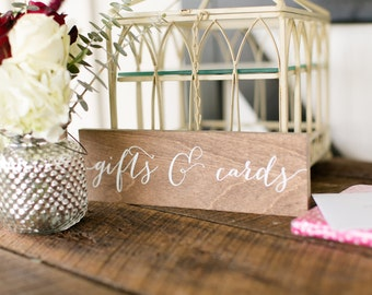 Gifts and Cards Sign - Wooden Wedding Signs - Wood