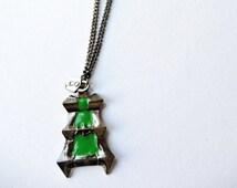 Thresh lantern and locket necklace, couple necklace, friend necklace, couple, friend, friends, chain