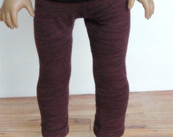 Maroon and Black Leggings - 18 Inch Doll Clothes // Clothing