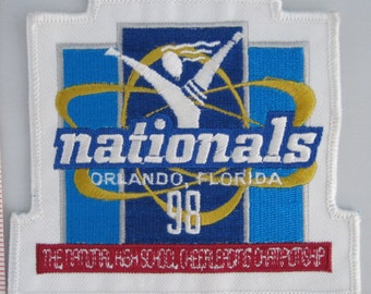 Cheerleading Nationals Championships Sew On Patch, Vintage Patch, Embroidered Applique Patch, Vintage Sports Patch, Embroidered Patch