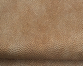"""60"""" Brown & Gold Scale Rough and Bumpy Upholstery Vinyl Heavy Weight Fabric By the Yard"""