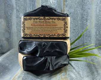 Activated Charcoal Handmade Soap with Essential Oils. 100% Natural. Made in Australia.