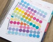 """108 blank dot stickers, 0.5"""" round stickers, circle stickers, life planner stickers, scrapbook sticker, reminder checklist sticker"""