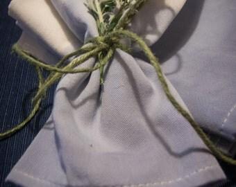 Dip dyed cloth napkins