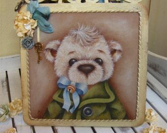 Byron, print on canvas, Canvas print, Teddy Bear