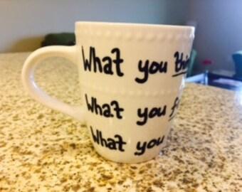 Tea Cup Buddha quote Inspirational saying Coffee Mug and Loose Leaf Tea Set