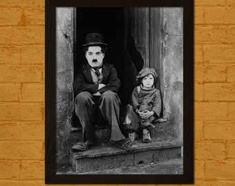 Charlie Chaplin Poster The Kid 1921 - Retro Movie Poster Wall Decor Poster Old Movie Print Chaplin Print  t