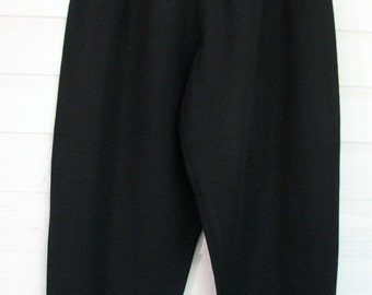 1980s Pants Party Last Exit Black and Red Small
