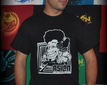 "Tee shirt ASKAN UNITED ""DJ"" - Tee shirt black - white inking"