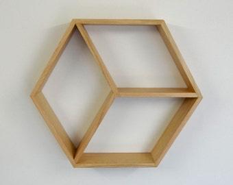Hexagon Wooden Shelf // Geometric Shelf // Tasmanian Oak