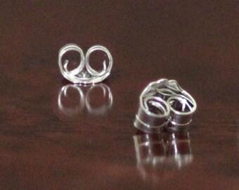 925 Sterling Silver Surgical Earring Safety Back Ear Nuts-Butterfly Clutch Earring Back Ear Nuts