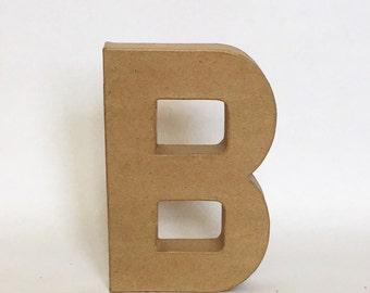 Stand Up Paper Mache Letter - Initial - Monogram - Wedding - Shower - Decor - Photo Prop