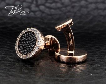 Stingray Cufflinkls 18K Solid Rose Gold Cufflinks Rose Gold Stingray Cufflinks 18K Gold Cufflinks 18K Solid Gold Cufflinks Bloom Jewellery