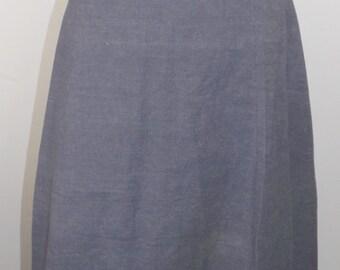 Vintage denim wrap around skirt, 1970's made in India