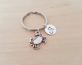 Crab Charm - Personalized Key chain - Initial Key Chain - Beach Gift - Key Chain - Gift - Custom KeyChain