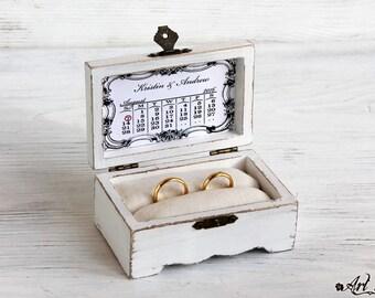 wedding ring box, Ring Bearer Box, ring box holder, wedding box, Personalized Box, Mr & Mrs Wedding Box, ring box, custom ring holder, white