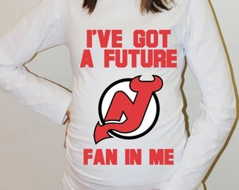 New Jersey Devils Baby New Jersey Devils Shirts Long Sleeve Hockey Shirt Baby Girl Boy Maternity Shirt