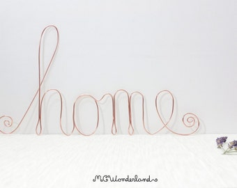 wire home sign home decor lettering wire art handmade wire words made of aluminium wire for wall decor