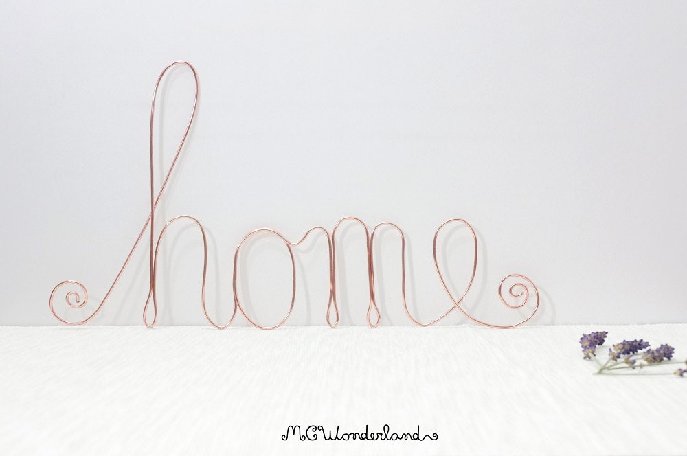Wire Home Sign Home Decor Lettering Wire Art Handmade Wire Words Made Of Aluminium Wire For