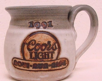1991 Coors Light Beer Row Run Ride Ceramic Mug or Coffee Cup or maybe a planter