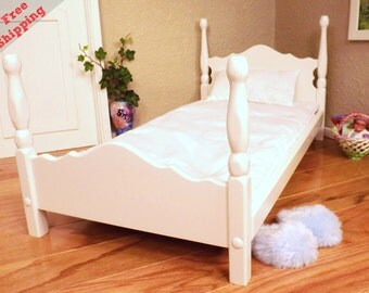 "Poster Bed fits 18"" dolls including American Girl dolls"
