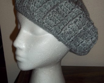 Grey Slouch Beret