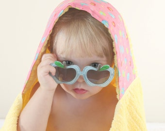 Hooded Towel - Towel Hoodie - Girls Hooded Towel - Girls Towel Hoodie - Baby Girl Gift - Girl Birthday Gift - Girls Pool Towel - Girls Towel