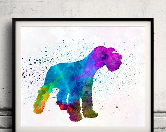 Miniature Schnauzer 01 in watercolor - Fine Art Print Poster Decor Home Watercolor Illustration Dog - SKU 2145