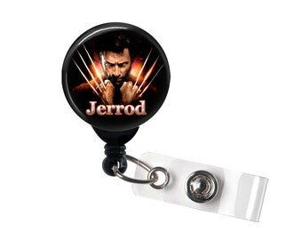 Personalized Wolverine Claws, Retractable ID Badge Reel (D_135)